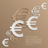 Vector euro signs background. Stock Image