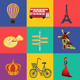 Vector europe flat. File format eps 10 Stock Photos