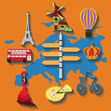 Vector europe flat travel Royalty Free Stock Photography