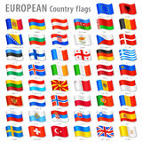 Vector Europe National Flag Set Royalty Free Stock Photo