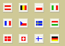 Vector European flags Royalty Free Stock Photography