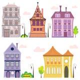 Vector european houses Stock Photography
