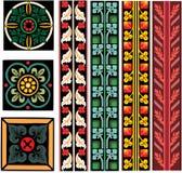 Vector Europese patronen Stock Afbeelding