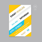 Vector event brochure flyer template design a5 size. Clean and modern flyer for business presentation or event Royalty Free Stock Photography