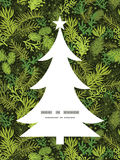 Vector evergreen christmas tree Christmas tree. Silhouette pattern frame card template graphic design Stock Image