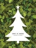 Vector evergreen christmas tree Christmas tree Stock Image