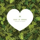 Vector evergreen christmas tree heart silhouette Stock Photos