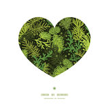 Vector evergreen christmas tree heart silhouette Royalty Free Stock Photography