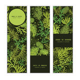 Vector evergreen christmas tree vertical banners. Set pattern background graphic design Royalty Free Stock Photography