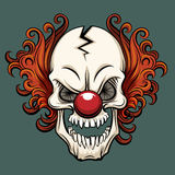 Vector evil clown. Clown scary, halloween clown monster, joker clown character illustration Stock Images