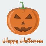 Vector evil-smiling pumpkin Stock Photos