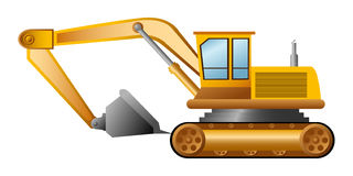 Vector excavator Royalty Free Stock Images