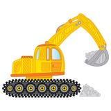 Vector Excavator. Excavator Vector Illustration. Royalty Free Stock Photo