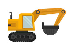 Vector excavator illustration Stock Photography