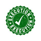 Execution Grunge Stamp with Tick royalty free illustration