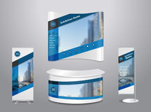Vector exhibition stand with cover abstract geometric background Royalty Free Stock Photos