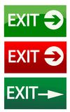 Vector exit signs. Illustration art Stock Photo