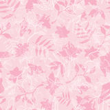 Vector Exotic Pink Dawn Florals Seamless Pattern Royalty Free Stock Image