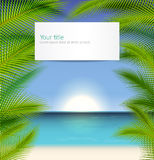 Vector Exotic trip background Stock Images