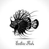 Vector Exotische Vissen Gevormde Overzees Logo Collection Royalty-vrije Stock Foto's