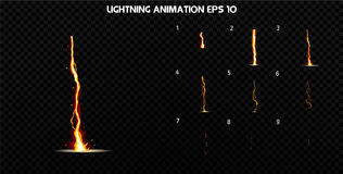 Vector explode. Explode effect animation with smoke. Cartoon explosion frames. Sprite sheet of explosion. Explode effect animation with smoke. Cartoon explosion Stock Photography