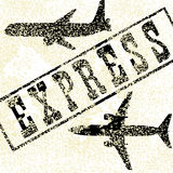 Vector expreso del aeroplano Imagen de archivo
