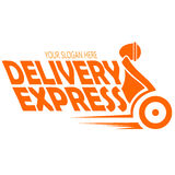 Vector express delivery. Vector image express delivery logo template Stock Photos