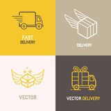 Vector express delivery service logo Royalty Free Stock Images
