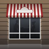 Vector Exterior of Restaurant Cafe Front Stock Images