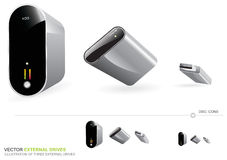 Vector External Drives Stock Image