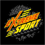 Vector eXtreme sport - moto emblem. Vector eXtreme sport - vector logo for tshirt Stock Images