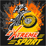 Vector eXtreme sport - moto emblem Stock Images