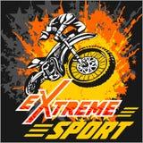Vector eXtreme sport - moto emblem. Vector eXtreme sport - motocross and emblem Stock Images
