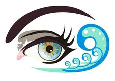 Vector eye Royalty Free Stock Photos