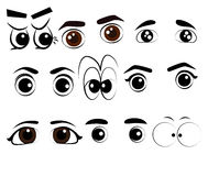 Vector Eye Action Style. And mood Royalty Free Stock Image