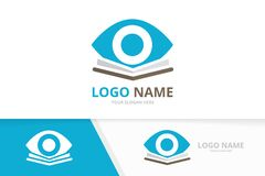Free Vector Eye And Library Logo Combination. Unique Bookstore Logotype Design Template. Royalty Free Stock Image - 217455226