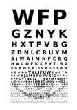 Vector eye chart Stock Photography