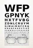 Vector eye chart Stock Photos