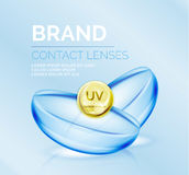 Vector eye contacts lenses ad template Stock Photography
