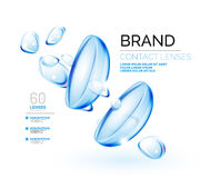 Vector eye contacts lenses ad template Royalty Free Stock Photos