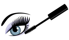 Vector eye with mascara Stock Photo