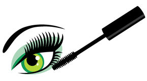 Vector eye with mascara Royalty Free Stock Images