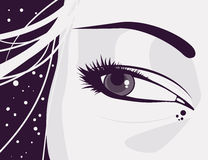 Vector eyes Royalty Free Stock Photography