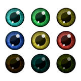 Vector eyes collection. Human pupil Stock Image