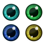 Vector eyes collection. Human pupil Royalty Free Stock Photo