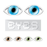 Vector Eyes Set Royalty Free Stock Image