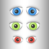 Vector eyes set Royalty Free Stock Photography