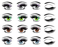 Vector Eyes Set Royalty Free Stock Photos