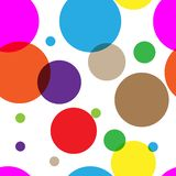 Vector fabric circles abstract seamless background royalty free illustration