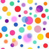 Vector fabric circles abstract seamless pattern background  with bright elements Stock Images